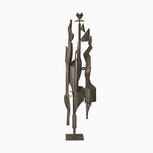 Scultura vintage in ferro di Antonio Saura, anni '60