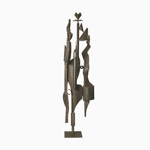 Vintage Iron Sculpture by Antonio Saura, 1960s