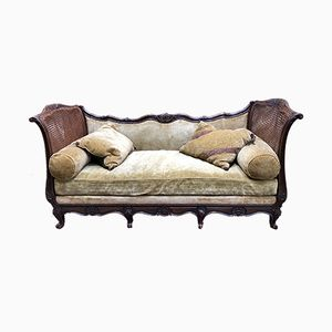 Vintage Beech Louis XV Styled Daybed