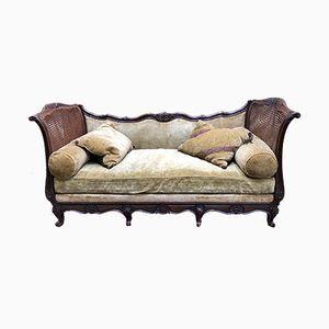 Vintage Tagesbett aus Buche im Louis XV-Stil