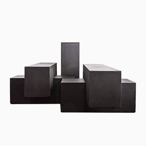 Mesas modulares Gli Scacchi de Mario Bellini para B&B Italia, 1968. Juego de 5