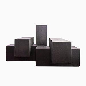 Tavoli Gli Scacchi modulari di Mario Bellini per B&B Italia, 1968, set di 5