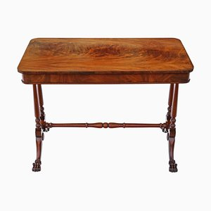 Antique Victorian Flame Mahogany Centre Table, 1880s