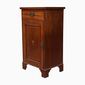 Antique Georgian Revival Inlaid Mahogany Bedside Table, 1915