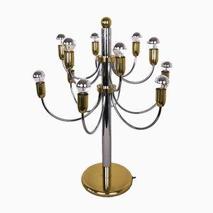 12-Arm Chrome Table Lamp, 1970s