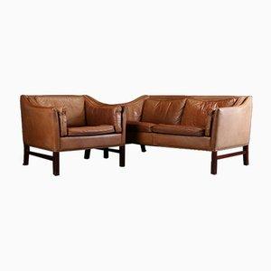 Danish Sofa & Armchair Set from Grandt Møbelfabrik, 1960s