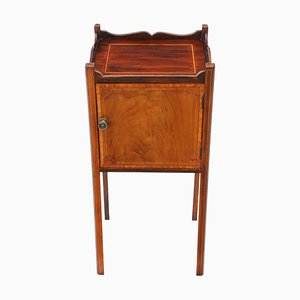 Antique Mahogany Tray Top Nightstand