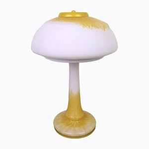 Tischlampe aus farbigem Glas von Schmöger Leuchten, 1970er