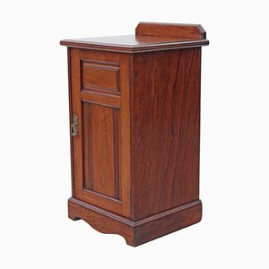 Antique Edwardian Victorian Walnut Bedside Cupboard