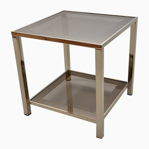 23 Karat Gold-Plated 2-Tier Side Table from Belgo Chrom, 1980s