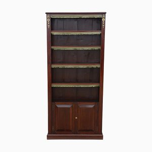 Antique Victorian Tall Adjustable Bookcase, 1890