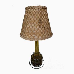Vintage Lampe aus geblasenem Glas