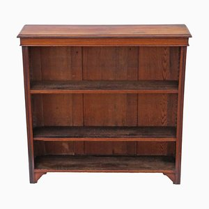 Antique Victorian Adjustable Walnut Bookcase, 1900s