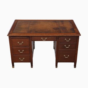 Mahogany Twin Pedestal Partner Desk, 1920s