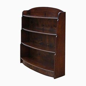 Antique Style Mahogany Open Bookcase, 1960s