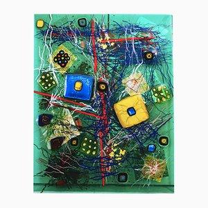 Escultura abstracta verde de Eros Raffael
