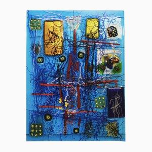 Abstrakte Skulptur in Blau von Eros Raffael