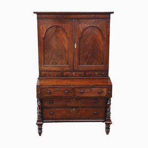 Antique Georgian Mahogany Secretaire, 1800s