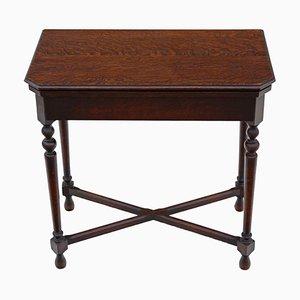 Tavolino pieghevole georgiano revivalista in legno di quercia di Maple & Co., anni '20