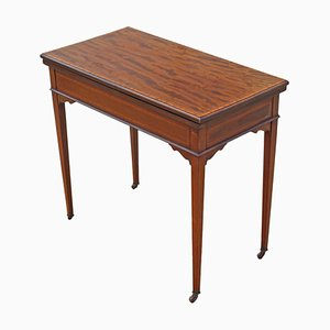 Antique Georgian Revival Inlaid Mahogany Folding Card Table, 1910s