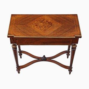 Table de Jeux Pliante Antique en Palissandre