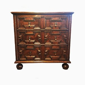 William & Mary Style Oak and Elm Chest of Drawers, 1690s