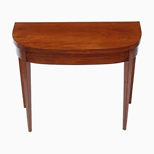 Antique Georgian Mahogany Folding Console Table, 1810s