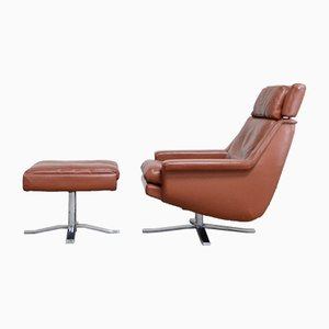 Model 802 Lounge Chair and Ottoman by Werner Langenfeld for ESA, 1970s