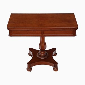 Antique Victorian Mahogany Folding Table, 1850s