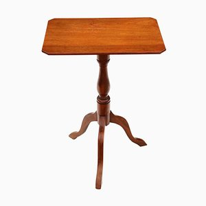 Antique Victorian Mahogany & Beech Tilt Top Side Table, 1850s