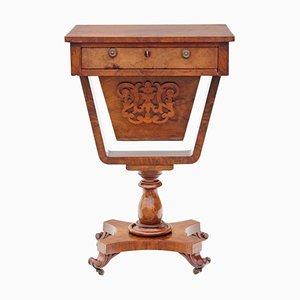 Tavolo da cucito vittoriano antico