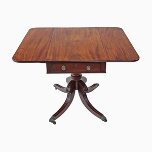 Antique Georgian Regency Pedestal Pembroke Table