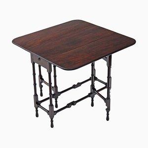 Table à Abattant Victorienne Antique en Acajou