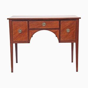 Antiker Schreibtisch aus Birke mit Intarsien