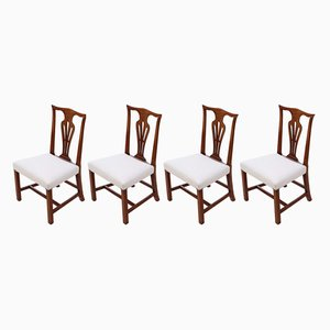 Antique Chippendale Dining Chairs, Set of 4