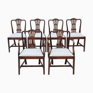 Antique Georgian Revival Mahogany Dining Chairs, Set of 6