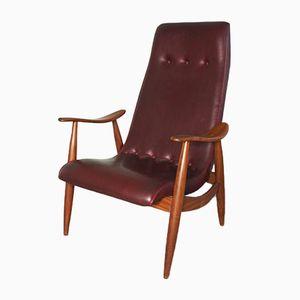 Vintage Armlehnstuhl von Louis van Teeffelen für WéBé, 1950er