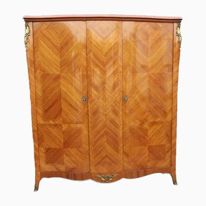 Walnut Serpentine Wardrobe with Marquetry, 1930s