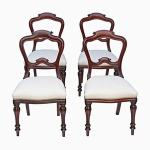 Early Victorian Mahogany Dining Chairs, 1850s, Set of 4