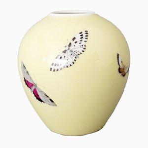 Vaso Butterfly di Siegmund Schütz per KPM Berlin, anni '50