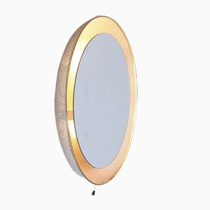 Specchio bianco perforato retroilluminato di Floris Fiedeldij & Mathieu Matégot per Artimeta, anni '50
