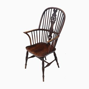 Chaise de Salon Victorienne Antique en Frêne et en Orme, 1840s