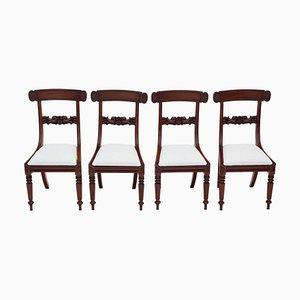 Sedie da pranzo Gugliemo IV in mogano, inizio XIX secolo, set di 4