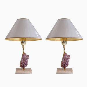Belgian Brutalist Table Lamps by Willy Daro, 1970s, Set of 2