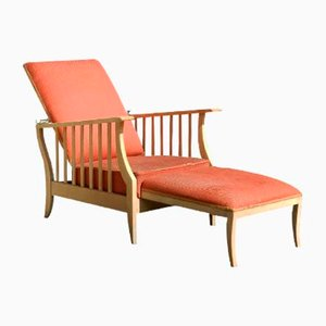 Arts & Crafts Reclining Lounge Chair, 1930s