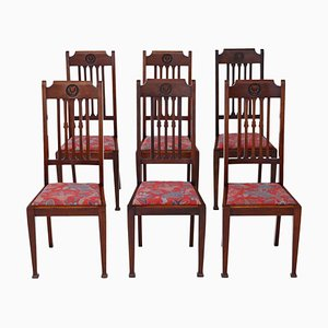 Mahogany Dining Chairs, 1910s, Set of 6