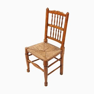 Antique Victorian Lancashire Elm Kitchen Dining Chair