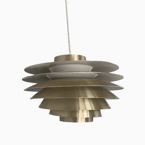 Lampe à Suspension Verona Vintage en Laiton par Svend Middelboe pour Føg & Mørup