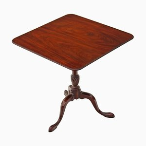 Georgian Style Mahogany Tilt Top Occasional Table from Kittinger Co., 1960s