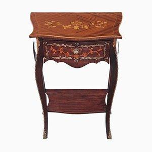 Mesa auxiliar estilo antiguo de caoba